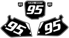 1995-1997 HONDA CR 125 Custom Pre Printed Black Backgrounds White Pin/Numbers