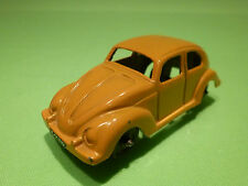 TOOTSIETOY? METAL VW VOLKSWAGEN KAFER - OCRE YELLOW - 1:50? - GOOD CONDITION