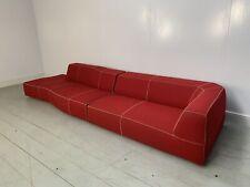 "RRP £9000 - Superb Huge B&B Italia ""Bend"" Sectional Sofa in Red ""Ego"" Wool-Fe..."