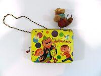 Rare Monkey Ola Music Toy Tin Box 1958 Mattel Vintage Organ Grinder Not Working