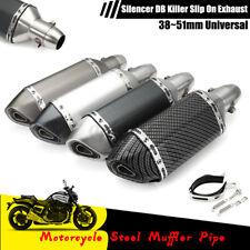 Universal Motorcycle Exhaust Muffler Pipe DB Killer Slip On Exhaust 38~51mm US