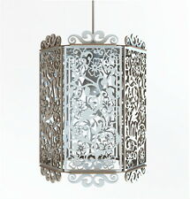 Lampadario Lampada soffitto Paralume Pendent Design Floreale Shabby Chic Country