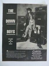 Warrant Erik Turner Joey Allen Carvin Amps Vintage Concert Poster Ad 10x13