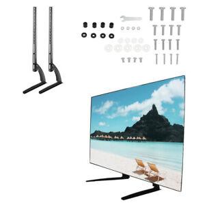 "32-65"" TV Screen Adjust Pedestal Table Top TV Stand Bracket Base Mount Universal"