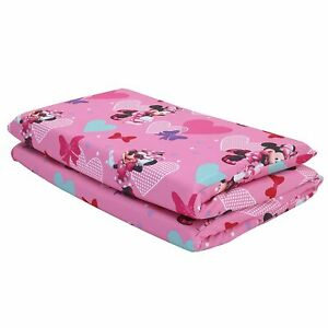"""Disney Minnie Mouse Preschool Nap Pad Sheet Pink, 19"""" x 44"""" Soft Great Condition"""