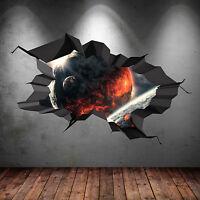 3D A PIENI COLORI SPAZIO PIANETI Comets GALAXY incrinato