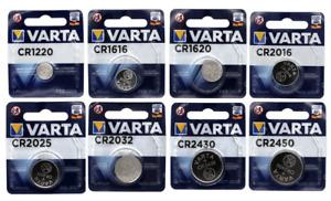 VARTA BOUTON LITHIUM 3V PILE BLISTER CR1220-1616-1620-2016-2025-2032-2430-2450