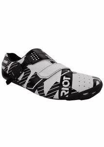 Bont Unisex Adult Schuhe Riot Buckle Biking Shoes [1418]UK 8.5 EU 42.5 White/Blk