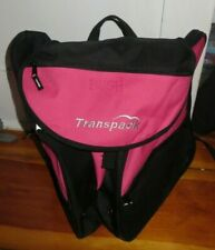 Transpack Jr skate or ski boot bag pink / black