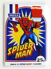 Spiderman Ice Cream Fridge Magnet (2.5 x 3.5 inches) popsicle sign poster