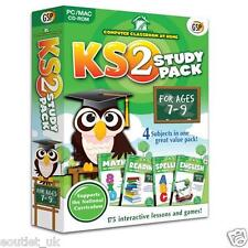 Computer Classroom at Home Key Stage 2 Study Pack For Ages 7-9 KS2 Maths English