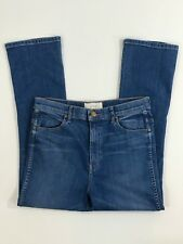 THE GREAT Size 30 The Nerd Flare Cropped Blue Jeans Makers Current Elliott EUC