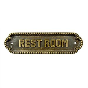 Rest Room Door Sign Antique Brass finish DHL EXPRESS SERVICE