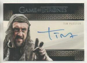 """Game of Thrones VALYRIAN STEEL Auto Trading Card Tim Plester """"Walter Rivers"""""""