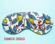 Eye Sleep Mask Soft Cotton Lemon Relax Liberty Summer Gift Blackout Travel UK