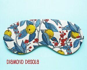 Eye Sleep Mask Soft Cotton Liberty Summer Lemon Relax  Gift Blackout Travel UK