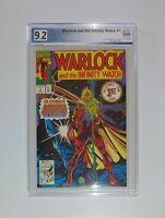 Warlock The Infinity Watch #1 9.2 PGX similar to CGC 9.2