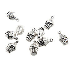 10x Tibetan Silver 3D Ice Cream Charm Pendant 12*10MM Fit DIY Bracelet/Necklace