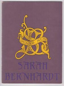 SARAH BERNHARDT EXHIBITION 1844-1923 ART NOUVEAU ALPHONSE MUCHA FRECH THEATRE
