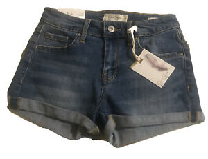 Nwt Jessica Simpson Forever Short Low Rise Roll Cuff Short Shorts Size 25 Womens