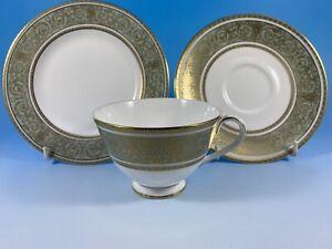 Royal Doulton English Renaissance Tea Trios Cups Saucers and Side Plates Set
