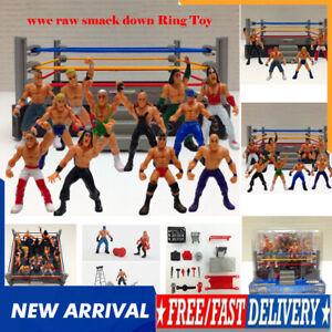 Ultimate Kids Wrestling Ring Playset WWE Wrestler Warriors Toys+4/8/12 Figures**
