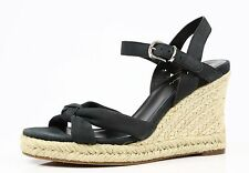 Cole Haan 8109 Cynthia Black Wedge Sandals Woman's Size 9 B