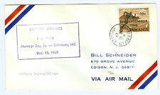 FLIGHT FLIGHT COVER 1969 AAMC F33-19a JAMAICA TO BALTIMORE, 52 PIECES FLOWN