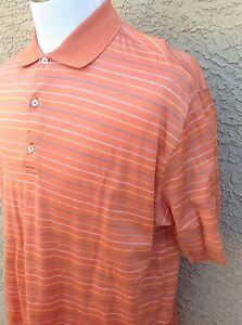 Awesome Bobby Jones Collection Men's Golf/Polo Shirt XL Orange E41