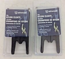"Attwood Nylon 4"" Cleats - 11783-7 - Black 2 Sets Of 2 - New"