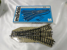 Marklin 5214 HO M Track 3 Way Electric Turnout in Original Carton