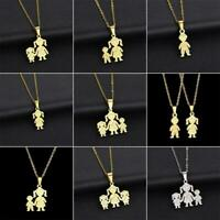 Party Gift Boy Girl Jewelry Chain Mother Kids Pendant Family Necklace