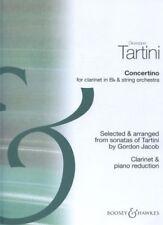 Clarinet Concertino Clarinette Giuseppe Tartini Good Book ISBN 9790