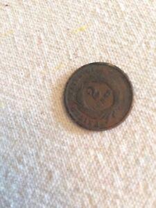 rare 1865 american 2 cent coin