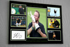 SHANE LOWRY Open Golf Framed Canvas Portrait Signed