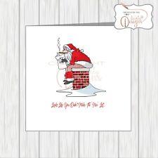 Funny Xmas Card Joke Rude Cheeky Adult Christmas Naughty Pooping Santa Best Mate