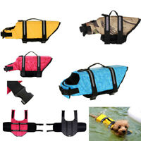 Dog Life Jacket Safty Pet Floating Vest Swimming Preserver Float Surf Saver Coat