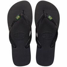 Chanclas Havaianas de Hombre de Mujer Brasil Preto Negro Zapatillas Unisex