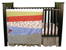 Trend Lab Dr. Seuss Cat In The Hat -3 Piece Crib Bedding Set 30019 NEW