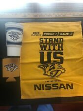 Nashville Predators Fan Pack. Coozie, Rally Towel, Vintage Arena Cup
