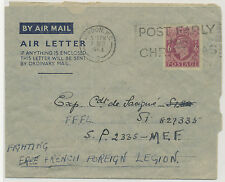 2402 1944 GVI 6D Air Letter addressed to the Fighting French Foreign Legion FFFL