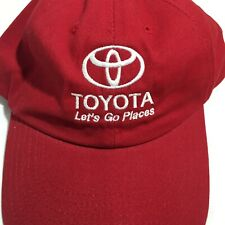 """Toyota """"Lets Go Places"""" Red Hat Good Condition"""