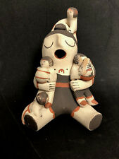 "Jemez Pueblo Native American 5"" Indian Pottery 4 Children Storyteller Signed Mar"