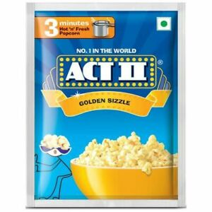 Act II Golden Sizzle 3 Minutes 40gm- Pack of 10
