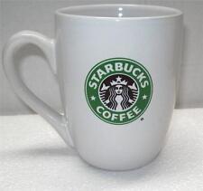 2008 STARBUCKS 10.2 oz  White China Tapered  Mug COFFEE / LATTE CUP Mermaid LOGO