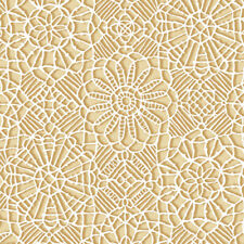 Quilting Treasures, Amazing Lace,  White and Tan Quilting Fabric, BTHY