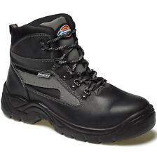 MENS DICKIES SEVERN SAFETY WORK BOOTS BLACK SIZE UK 12 FA23500 BLACK LEATHER