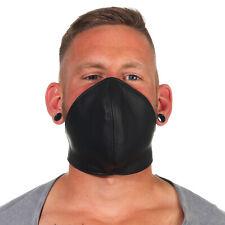 Rind Leder Mund Bedeckung WindSchutz Gesichtsmaske Steampunk Biker Maske Schw. B