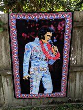 Vintage Elvis Presley Tapestry Aloha Hawaii Concert Colorful 58'' x 38'' wall