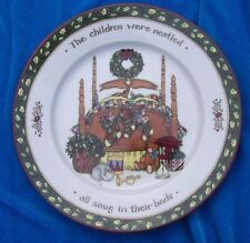 Portmeirion Studio Christmas Story Dessert Salad Plate The children were nestled